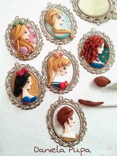 Милые полимерные украшения от Daniella Pupa - Ярмарка Мастеров - ручная работа…