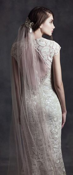 Wedding dress idea; Featured Dress: Claire Pettibone