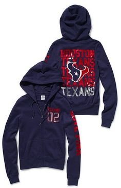 Victoria's Secret Pink® Houston Texans Bling Zip Hoodie... I Love this jacket! Wear it all football season!! @Veronica
