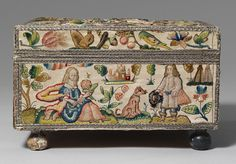 Cabinet with personifications of the Five Senses, third quarter of 17th century  English