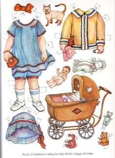 TWIN TOTS OF THE TWENTIES Paper Dolls Jeffrey and Stephanie by Evelyn Gathing  14 of 20