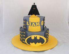 Batman Two Tier Cake by My Cake Place http://www.mycakeplace.com.au/