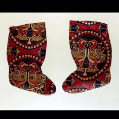 Sogdian silk socks or boots, 7th - 8th century