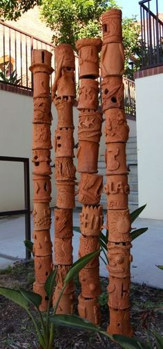 great projects for the youth, make a clay totem pole: