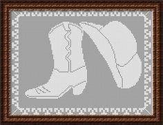crochet pattern filet cowboy boots - Google zoeken