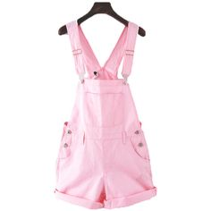 33c268e346e Pink white kawaii cute overalls ( 24) ❤ liked on Polyvore featuring  jumpsuits… Cute