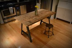 A-Frame Dining Table – Recycled Brooklyn Inc.