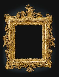 An Italian carved giltwood frame, Venice, circa 1770 the rectangular plate within a frame profusely carved with rocaille and with carved cartouche to the cresting, now mounted as mirror Antique Picture Frames, Old Frames, Antique Frames, Vintage Frames, Decoration Baroque, Objet D'art, Art Auction, Vintage Antiques, Art Nouveau