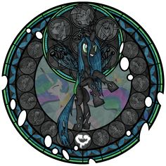 Stained Glass: Queen of the Changelings by Akili-Amethyst on deviantART