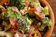 A very simple and hearty salad made with bacon, broccoli and grapes with a paleo mayonnaise based dressing. An easy fix for when time isn't an option.