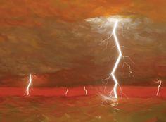 Júpiter - Onde o céu está limpo, o amarelo-sujo dominaria. Mas, nas regiões de tempestades, que são tão comuns que se refletem nas faixas do planeta vistas do espaço, substâncias como hidrosulfeto de amônia espalhariam tons alaranjados, avermelhados e marrons.