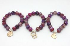 Variegated Red Agate Stretch Bracelet  FREE SHIPPING until June 23rd