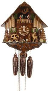 Relógio de Cuco <br> Deer, Mill Wheel