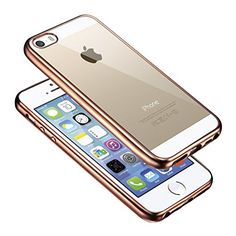 MOONCASE iPhone SE Case, iPhone 5S Case Premium Ultra Thin Slim Soft TPU Transparent Back Plating Side Case Cover for iPhone 5 5S Rose Gold MOONCASE http://www.amazon.co.uk/dp/B01A6BL506/ref=cm_sw_r_pi_dp_rtg9wb1PJ8BQR