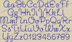 Chickens Embroidery Font The Chickens embroidery alphabet comes in 3 different sizes. .75 (3/4) Inch 1 Inch 2 Inch 3 Inch 26 Upper Case Letters 26 Lower Case Letters 10 Numbers