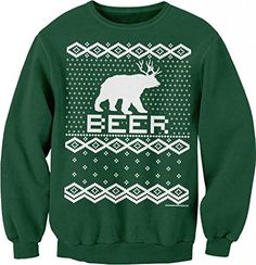 Drinking Beer Tacky Christmas Sweaters & Gifts – Ugly Sweaters By City