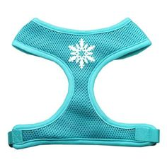 Mirage Pet Products Snowflake Design Soft Mesh Dog Harnesses, Large, Aqua ** Want to know more, click on the image. (This is an affiliate link and I receive a commission for the sales)
