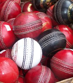 THE USED CRICKET BALL MOTHERLODE! :D Crickets balls in Portobello Rd, London @Traci Moore