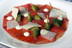 The bluefin tuna carpaccio at La Candela Tapas Bar in Cadiz, Spain. This little tapas restaurant offers wonderful quality and value. It's a can't miss in Cadiz!
