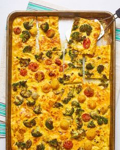 Easy Vegetable Frittata in a Sheet Pan | Kitchn