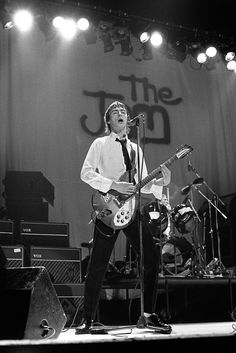Fin Costello - Paul Weller performing live onstage, with The Jam at the Hammersmith Odeon, December 1977