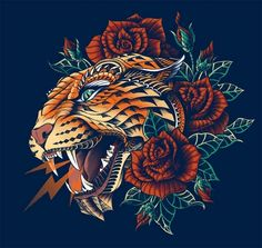 Ornate Leopard Art Print by BioWorkZ Tatto Old, Tatoo Art, Body Art Tattoos, New Tattoos, Cool Tattoos, Tattoo Drawings, Jaguar Tattoo, Leopard Tattoos, Illustration Vector