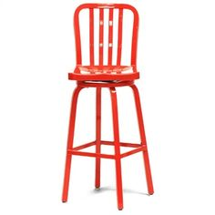 Lasenza Aluminum Cafe Swivel Bar Stool by Wholesale Interiors | ModernCollections.com