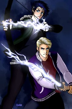 the grace siblings + using lightning as weapons! not sure how it'd work, but… | art cindersart