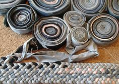 recycled rug from old jeans