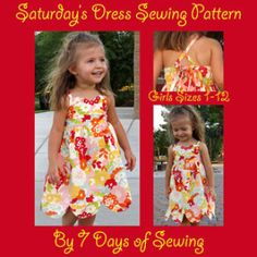 Saturday's Dress Sewing Pattern | Sewing Pattern | $5 SALE (now through 07/29/14 MST) | YouCanMakeThis.com