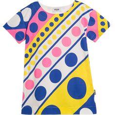 Girls 'Twiggy' Print Cotton Tunic Dress , Moschino, Girl
