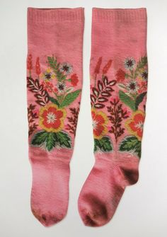 """Embroidered socks, from """"Designs and Patterns from Muhu Island: A Needlework Tradition from Estonia"""""""
