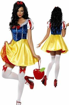 Ladies Snow White Princess Sexy Fancy Dress Adult Costume Halloween Outfit | eBay
