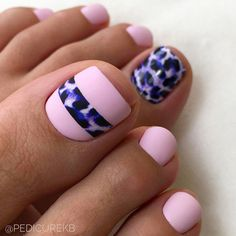 Over 50 Incredible Toe Nail Designs for Your Perfect Feet - Sweet Pink Animal Print Ideas ❤Over 50 Incredible Toe Nail Designs for Your Perfect Feet ❤ See - Pink Toe Nails, Pretty Toe Nails, Cute Toe Nails, Toe Nail Color, Feet Nails, Toe Nail Art, Manicure And Pedicure, Nail Colors, Manicure Ideas