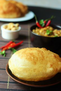 Indian Recipes Soft and fluffy poori. Soft inside and crisp outside. A perfect way to start your weekend Puri Recipes, Halal Recipes, Brunch Recipes, Indian Food Recipes, Cooking Recipes, Vegetarian Recipes, Indian Snacks, Chapati Recipes, Indian Breakfast