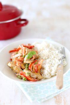 Romige varkensfilet met rijst