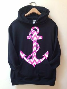 Hooded Pullover Anchor Sweatshirt on Wanelo