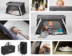Lotus Portable Crib - super light and compact (fits in a backpack!!!).  Great for carrying on a plane as it fits in overhead bin.  Love the side zipper so child can play in or out of it as they wish making it fun to them (felt my son thought his pack n' play was a cage ;)