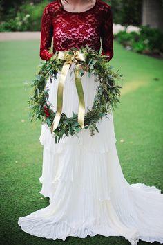 holiday wreath // photo by Arina B Photography // http://ruffledblog.com/festive-christmas-celebration-shoot