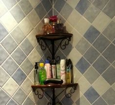 European Iron Retro Bathroom Hanging Corner Shelf Wall Shelves (Brown, -- Unbelievable item right here! Decor, Retro Bathrooms, Shelves, Rack Shelf, Wall Shelves, Primitive Crafts, Home Kitchens, Kitchen Storage Organization, Corner Shelves