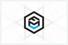 Cube letters logo design on Behance