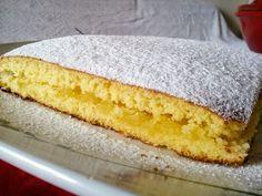Torta sofficissima con crema di mele