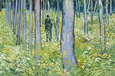 Vincent van Gogh (1853–1890), Undergrowth with Two Figures (detail), 1890, oil on canvas,