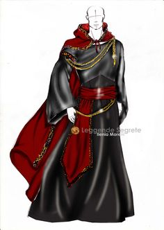 CUSTOM ORDER Mage set: cloak  belt  tunic, Medieval Fantasy Larp Wiccan. $270.00, via Etsy.