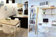 Interior designers Claire Angelica Alarilla, Luzel Andrea Alconera, and Jeditte Margaret Coloma make the most of a one-bedroom unit