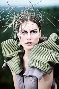 dress - Renate Vitola.  photo - Andris Barbans.  model - Mara Kampernova.  Make up - Diana Kuznova