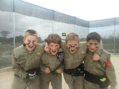 Bit of face paint, paintballing and a cake - that's a birthday party to remember! #BirthdayParty #paintball