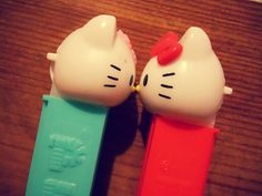 hello kitty- I saw turquoise & red post with the back of hello kitty heads lining a cotton candy walkway/line.