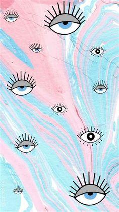 Eyes Wallpaper, Butterfly Wallpaper Iphone, Cute Pastel Wallpaper, Halloween Wallpaper Iphone, Cute Patterns Wallpaper, Iphone Background Wallpaper, Tumblr Wallpaper, Aesthetic Iphone Wallpaper, Galaxy Wallpaper