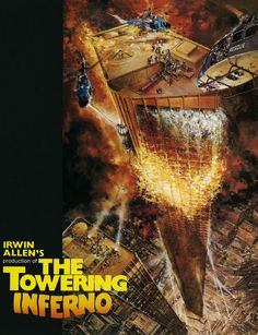 "Along with Airport 1975 and Earthquake, The Towering Inferno is released in 1974 making it the year of the ""disaster film""."